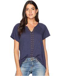 Pendleton - Cap Sleeve Easy Tee (ivory) Women's T Shirt - Lyst