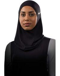 Nike - Pro Hijab (atmosphere Grey/white) Athletic Sports Equipment - Lyst