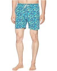 Psycho Bunny - Modern Wave Print Swim Trunks (navy) Men's Swimwear - Lyst