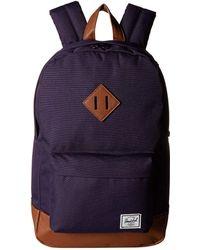 de093011e62 Herschel Supply Co. - Heritage Mid-volume (purple Velvet tan Synthetic  Leather