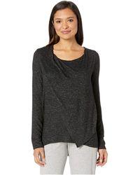 Donna Karan - Sweater Lounge Top (black Marled) Women's Pajama - Lyst