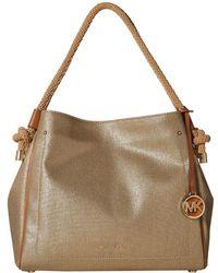 340adb62a60b MICHAEL Michael Kors - Isla Large Grab Bag (pale Gold) Tote Handbags - Lyst