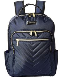 Kenneth Cole Reaction - Polyester Twill Chevron Backpack (navy) Backpack  Bags - Lyst 8a6ce9a3db7b4