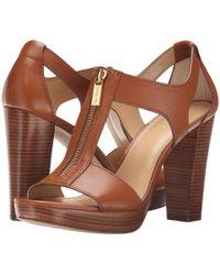MICHAEL Michael Kors - Berkley Sandal (black Vachetta) Women's Dress Sandals - Lyst