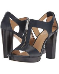 2829e9eed814 MICHAEL Michael Kors - Berkley Sandal (admiral Vachetta) Women s Dress  Sandals - Lyst