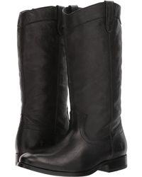 Frye - Melissa Pull-on (black Tumbled Buffalo) Women's Pull-on Boots - Lyst
