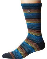 Travis Mathew - Joerger (blue Nights) Men's Crew Cut Socks Shoes - Lyst