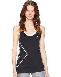 8ecaaa3ad91a05 Converse - Street Sport Tank Top (black) Women s Sleeveless - Lyst