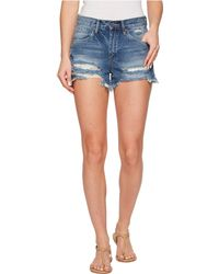 Blank NYC - High-rise Distressed Shorts In Poster Child - Lyst