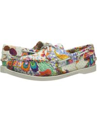 Sebago - Dockside (grand Bazzar Print) Women's Lace Up Casual Shoes - Lyst