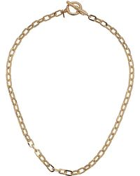 Vanessa Mooney - The Eternal Toggle Chain Necklace (gold Plated) Necklace - Lyst