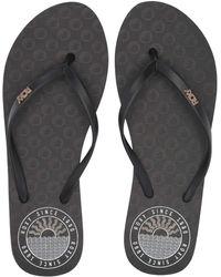 Roxy - Viva Stamp Ii (black Stripe) Women's Sandals - Lyst