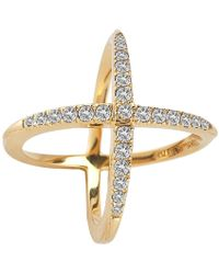 Elizabeth and James | Windrose Pave Ring | Lyst