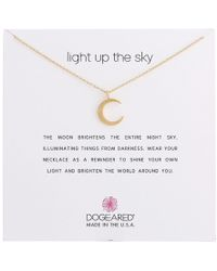 Dogeared - Light Up The Sky Thin Crescent Moon Necklace (gold Dipped) Necklace - Lyst