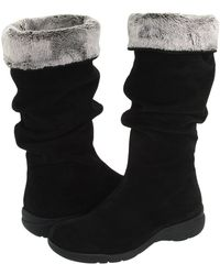 La Canadienne - Trevis (black Suede) Women's Pull-on Boots - Lyst