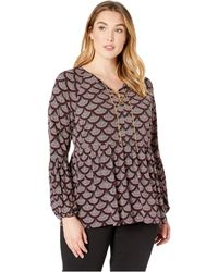 159289a0584 MICHAEL Michael Kors - Plus Size Chandelier Chain Neck Top (cordovan) Women s  Clothing -
