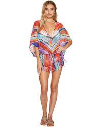 Luli Fama - Bellamar Cabana V-neck Dress Cover-up - Lyst
