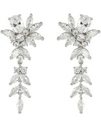 Nina - S Zhane Beautiful Dangling Earrings With Floral Motif - Lyst