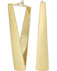 Vince Camuto - V Hoop Earrings - Lyst