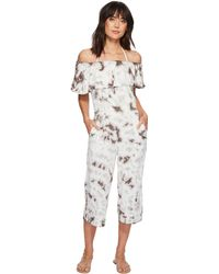 Green Dragon - Crystal Forest Mira Off Shoulder Jumpsuit (charcoal) Women's Jumpsuit & Rompers One Piece - Lyst