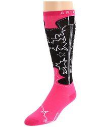 Ariat - Western Boot Sock (pink) Women's Knee High Socks Shoes - Lyst