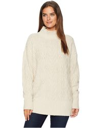 Pendleton - Funnel Neck Cable Pullover (sandpiper) Women's Clothing - Lyst