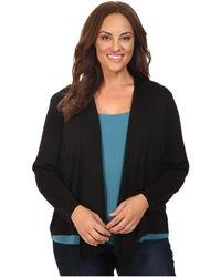 NIC+ZOE - Plus Size 4-way Cardy (black Onyx) Women's Sweater - Lyst