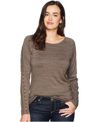 Ariat - Study Top (major Brown) Women's Long Sleeve Pullover - Lyst