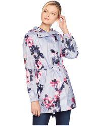 Joules - Golightly Waterproof Packaway Coat (dusk Grey Winter Floral) Women's Coat - Lyst
