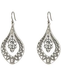 Lucky Brand - Sahara Dust Filligree Oblong Earring - Lyst