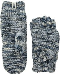 The North Face - Purrl Stitch Mitt (fig/faded Rose) Extreme Cold Weather Gloves - Lyst