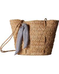 Hat Attack - Brunch Bag W/ Tie Knot Trim (natural/black) Bags - Lyst