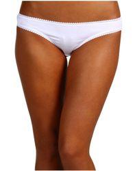 On Gossamer - Cabana Cotton Hip Bikini 1402 (champagne) Women's Underwear - Lyst