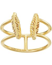 ALEX AND ANI - Feather Ring - Lyst