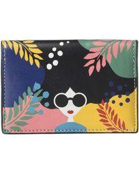 Alice + Olivia Lexi Printed Envelope Card Case - Multicolor