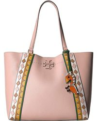 deaaf190256b Tory Burch - Mcgraw Patchwork Carryall (pink Salt multi) Handbags - Lyst