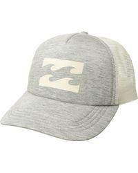 6002e129096 Lyst - Billabong All Day Trucker Hat in Black for Men