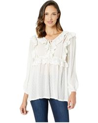 96f852c96acaf9 Scully - Yaritza Swiss Dot Blouse W  Ruffle Yoke Detail (white) Women s  Blouse