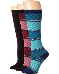 Comfortiva - Compression Socks 3-pack (brights) Women's Low Cut Socks Shoes - Lyst
