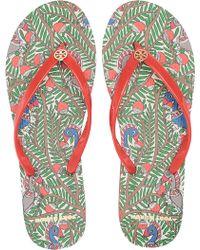 f05645bde666 Tory Burch - Thin Flip Flop (tory Navy diamond Sky) Women s Sandals -