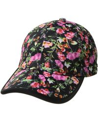 Steve Madden - Neoprene Baseball Cap (black Floral) Baseball Caps - Lyst