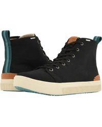 TOMS - Trvl Lite High (black Canvas) Men's Lace Up Casual Shoes - Lyst