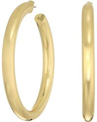 Shashi - Large Hoop Earrings (yellow Gold) Earring - Lyst