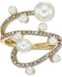 Vince Camuto - Wraparound Ring (gold/crystal/ivory Pearl) Ring - Lyst