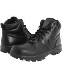 Nike - Manoa Leather (black/black/black) Men's Lace-up Boots - Lyst