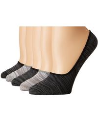 Steve Madden - 5-pack Marl Footie (black Marl) Women's Crew Cut Socks Shoes - Lyst