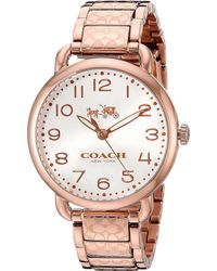 COACH - Delancey 36mm Etched Bracelet Watch - Lyst