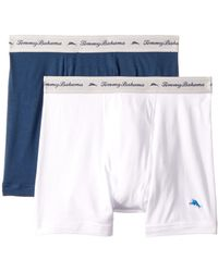 Tommy Bahama - Solid Stretch Cotton Comfort Boxer Briefs 2-pack (aqua/neptune) Men's Underwear - Lyst