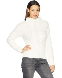 Vince Camuto - Long Sleeve Novelty Cable Knit Sweater (antique White) Women's Sweater - Lyst