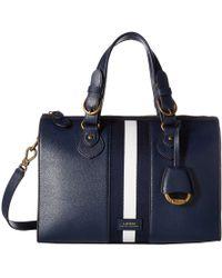 Lauren by Ralph Lauren - Chesterfield Duffel Satchel Medium (navy/navy/white/navy Stripe) Satchel Handbags - Lyst